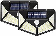 QINYA Lampe Solaire Extérieur 100 LED 1800mAh