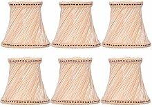 QiruIXinXi Lot de 6 abat-jours en tissu cristal
