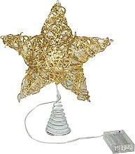Qirun Étoile de sapin de Noël creuse à