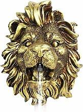 qiuqiu Tête De Lion Tenture Murale Fontaine