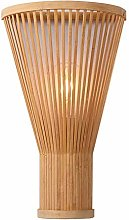 QJUZO E27 Lampe Murale Bambou Osier Rotin