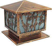 QJUZO Lampe De Jardin Bronze, Borne En Fonte