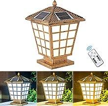 QJUZO LED Lampe Pilier Exterieur Solaire Antique