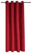 QL23176-1pcs Rideau Velour Rouge à Oeillet