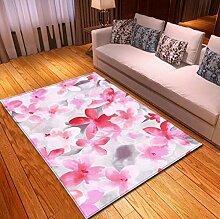 QNYH Impression De Fleurs Roses Aquarelle, Tapis