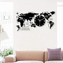 QOHG Horloge Murale Acrylique Geante 100Cm Carte