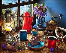 QPCGRA Kits de Peinture par numéro,Lampe à Huile