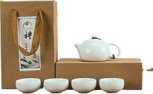QSMIANA Theiere Kung Fu Tea Sets En Céramique