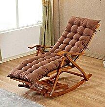 QTWW Chaise à bascule réglable en bambou avec