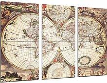 Quardos Poster photo carte du monde ancien, carte