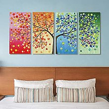 Quatre saisons chanceux arbre de vie toile
