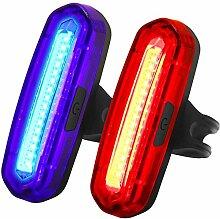 Queue de Bicyclette lumière LED Rouge/Bleu, 100