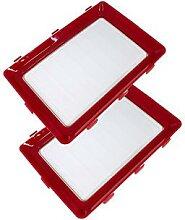 quick tray xl - lot de 2 plateaux de conservation