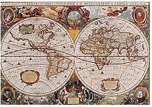 QWYU Puzzle carte du monde antique (1000 pièces)
