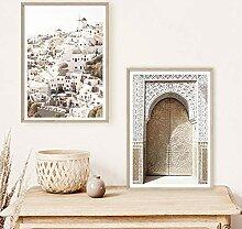 QZROOM Arche Marocaine Porte Voyage Village