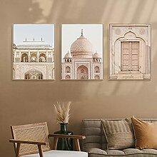 QZROOM Architecture Islamique Toile Impression