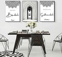 QZROOM Art Islamique Calligraphie Arabe Toile
