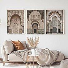 QZROOM Porte d'arche Marocaine Affiche de