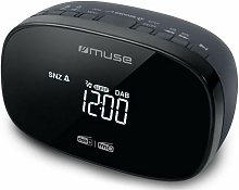 radio-réveil double alarme noir - m150cdb - Muse