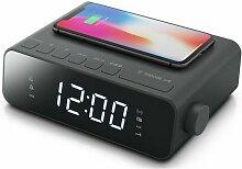 radio-réveil double alarme noir - m175wi - Muse
