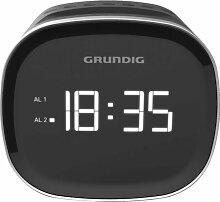 radio-réveil double alarme noir - scn230 - Grundig