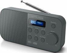 radio-réveil numérique noir - m109db - Muse