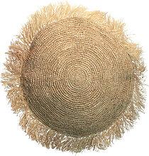 Raffia - Coussin rond en raphia ø40cm
