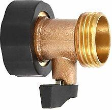 Raguso Raccord de valve 3/4 DN20 en laiton pour
