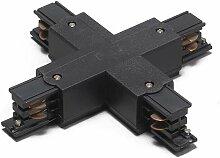 Rail Jonction-X 3 phases noir