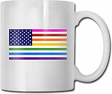 Rainbow-And-Pink-Triangle-Flagsgrande tasse de