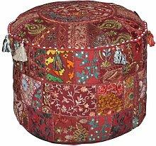Rajasthali Indien Pouf Tabouret Vintage Patchwork