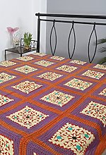 RAJRANG Couvre-lit Kantha Patchwork Double Taille