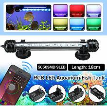 Rampe Aquarium bluetooth 18cm 9 LED RGB