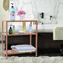 Rangement salle de bain Etagère en bambou