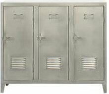Rangement Vestiaire bas / 3 portes - Acier - Tolix