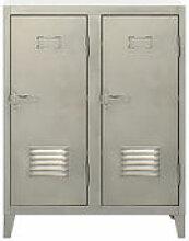 Rangement Vestiaire bas / Acier - 2 portes - Tolix