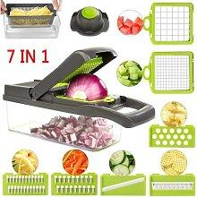 Râpe à légumes 7 en 1, éplucheur de carottes,