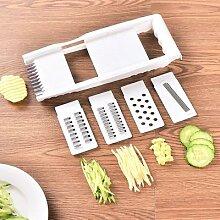Râpe à légumes multifonctionnelle en acier
