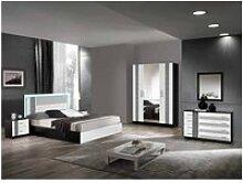 Ravenne - chambre complète 160x200cm noire et