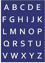 Rayher 4501200 Alphabet majuscules DIN A4