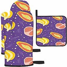 Rcdeey Les gants de cuisine et maniques violets