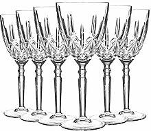 RCR Crystal 12 Piece Glass Orchestra Cut Verres à
