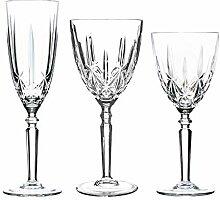 RCR Crystal 18 Piece Glass Orchestra Cut Stemware