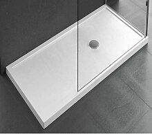 Receveur de douche à poser 12,5 cm blanc brillant