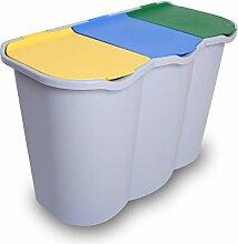 Récipient poubelle tri sélectif unique poubelle