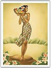 Récolte Tropical - Femme Hawaïen Tenant Un