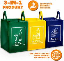 Recyclage Poubelle Lot De 3 Sacs de Tri Sélectif