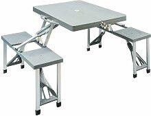 Redcliffs - Table pliante pieds en aluminium 4