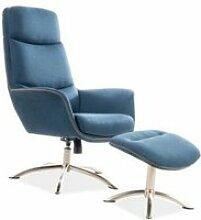 Reganno - fauteuil avec repose-pieds moderne salon
