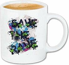 Reifen-Markt Tasse à café Save The Rave Graffiti